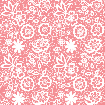 Lace seamless pattern with flowers Çizim