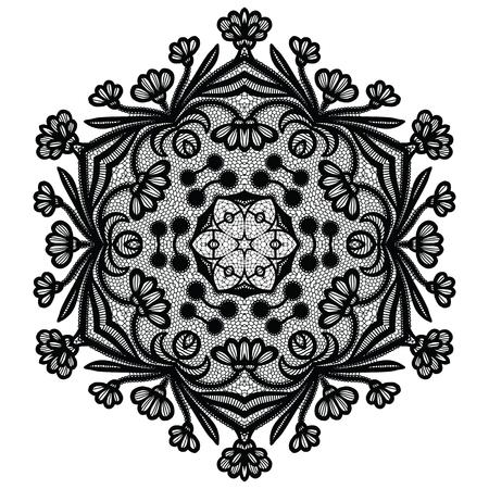Lacy round napkin. Vector illustration Imagens - 127288127