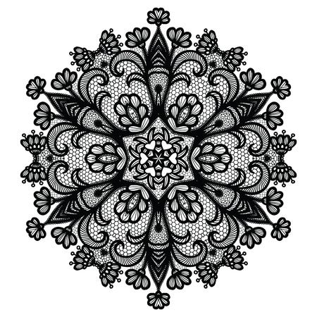Lacy round napkin. Vector illustration Imagens - 127288130