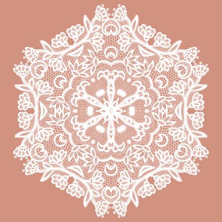 Lacy round napkin. Vector illustration Imagens - 127288132