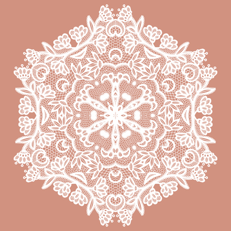 Lacy round napkin. Vector illustration Illustration
