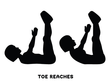 Double crunches. Double crunch. Sport exersice. Silhouettes of woman doing exercise. Workout, training Vector illustration Vecteurs