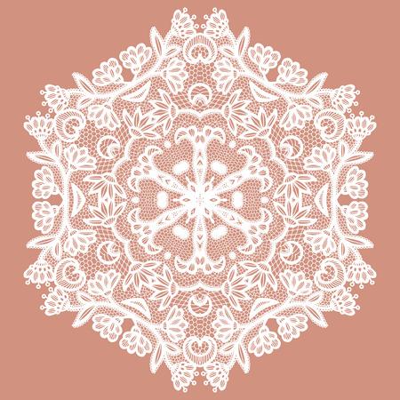 Lacy round napkin. Vector illustration Vektoros illusztráció