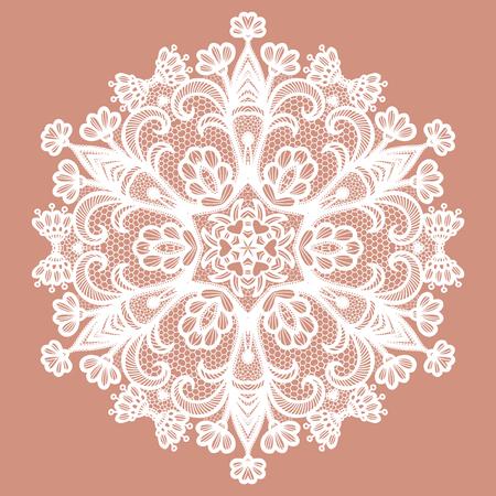 Lacy round napkin. Vector illustration