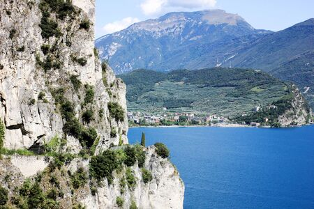 Riva Del Garda, Italy. View on a city. Imagens - 132605455