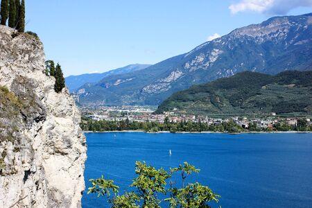Riva Del Garda, Italy. View on a city Imagens - 132652130