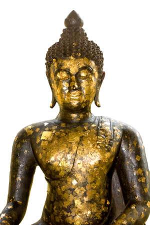 Old Buddha  in white background Stock Photo - 12834576