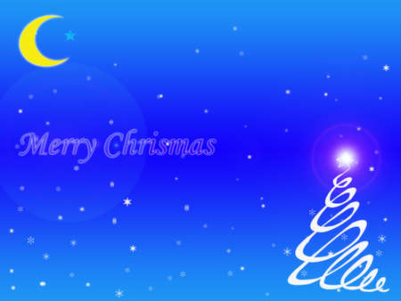 Christmas blue background photo