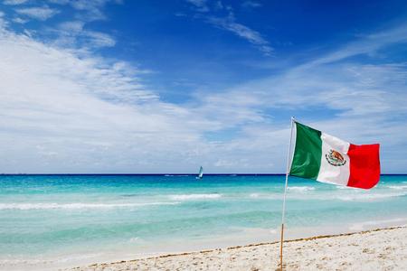 The Occupied Beach - Viva Mexico Archivio Fotografico