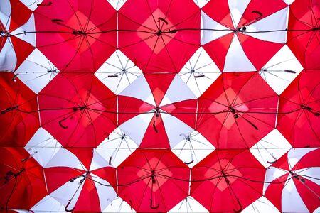 Red Umbrella Skies 写真素材
