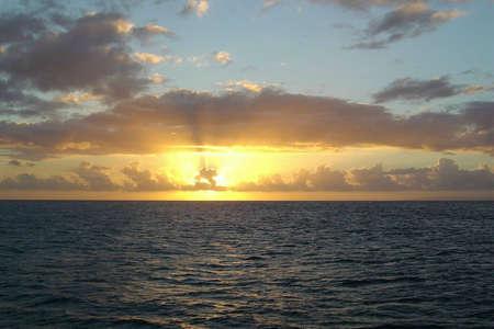 サンセット カウアイ島, ハワイ 写真素材