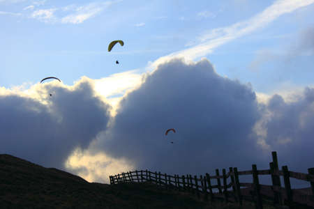 paragliders Stock Photo - 9169766