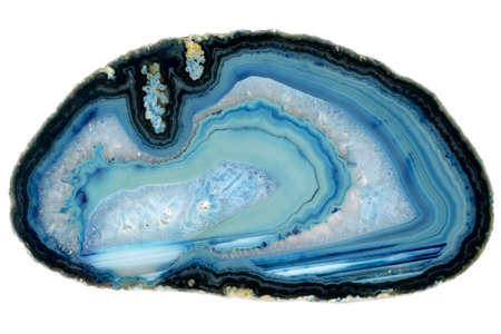 blue agate on white background