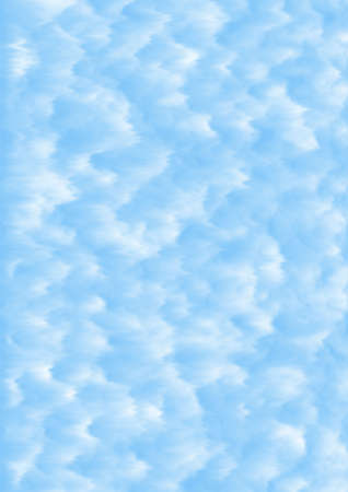 Fluffy clouds blue sky background – digitally created texture.