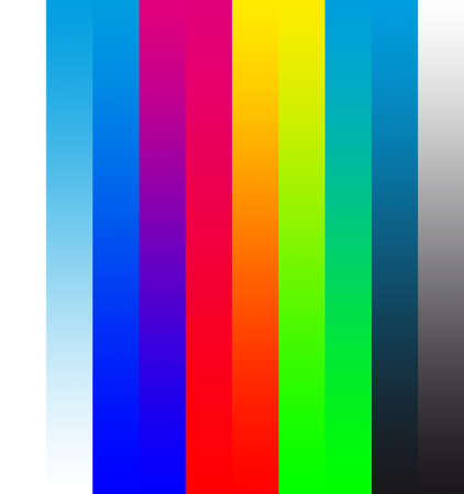 CMYK to RGB colored stripes transition.
