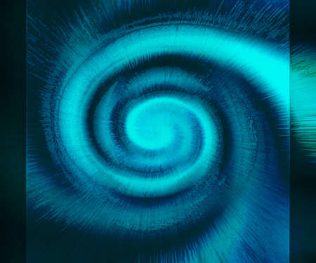 blurred motion: Spiral galaxy abstract illustration. Blue cosmos space or typhoon graphic.