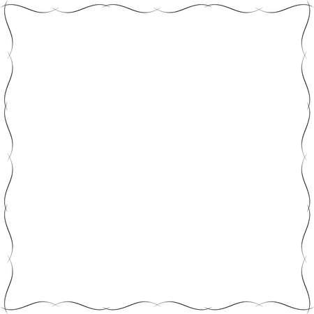 繊細なフレーム。飾り枠またはフレームのために設計。
