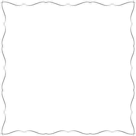 fancy border: Delicate frame. Ornament designed for border or frame.