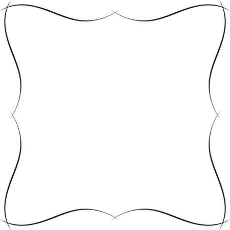 波状の装飾的なフレーム。境界線またはフレーム単色の派手なグラフィック