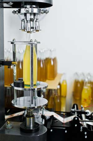 Bottling factory - Beer bottling line for processing and bottling beer into bottles.