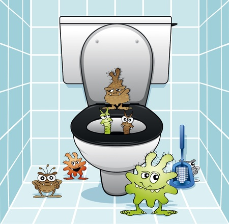 cleanliness: Toilet monsters coming out of the drain