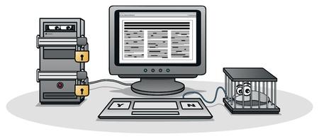 Internet Censorship Illustration