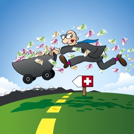 tax evasion: Tax evasion - smuggling savings to Switzerland