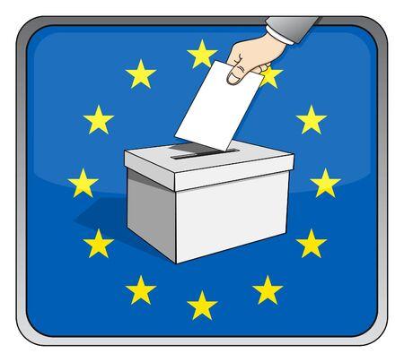 Europese verkiezingen - stembus en nationale vlag