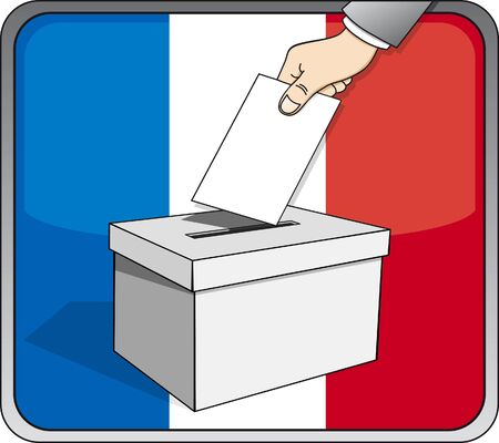 French elections - ballot box Stock Vector - 17336419