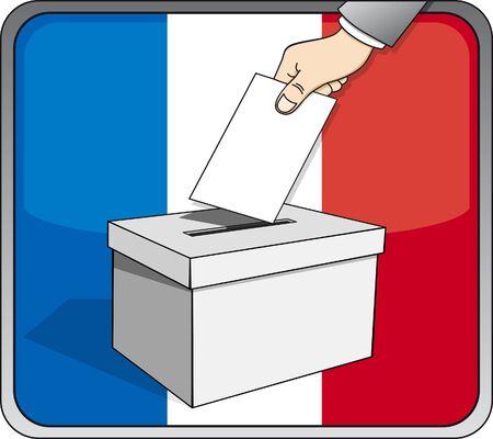 French elections - ballot box