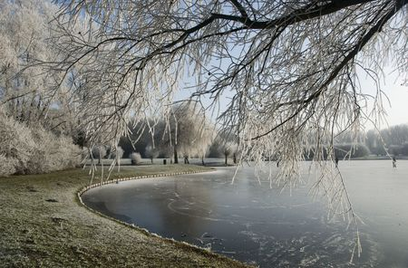 icey: winter landscape in holland