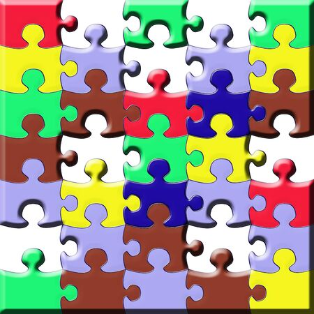 puzzle multicolor photo