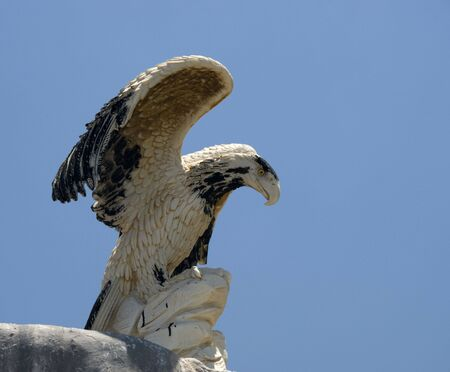 statute: concrete statute of the eagle in greece Stock Photo