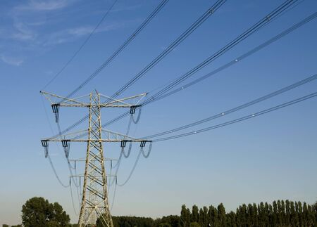 cable network for transporting electricity in high voltage photo