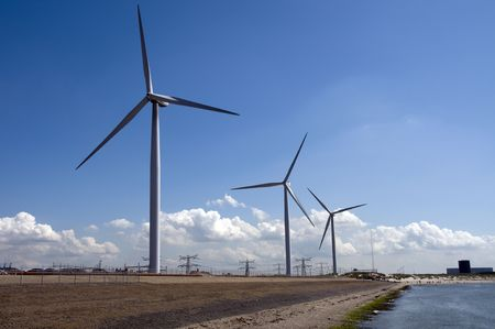 windpower: windmills in holland for green energy