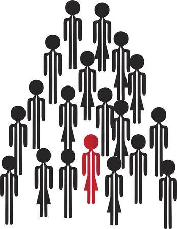 personne seule: une personne sur le groupe