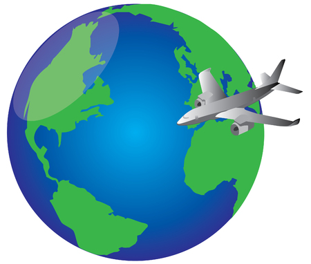 fly around the world Stock Vector - 6382091