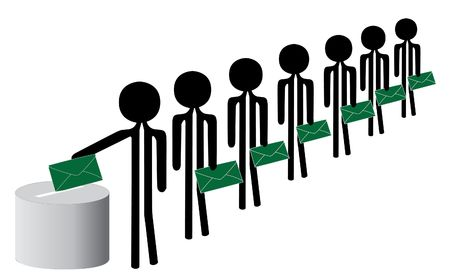 elections with red and green envelope photo