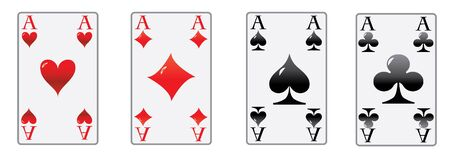 the four aces of the poker game in luxury white cards  photo