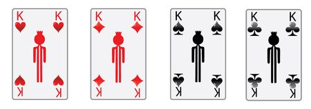 the four kings of the poker game in luxury white cards  photo