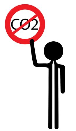 bstract: man with no co2 sign Stock Photo