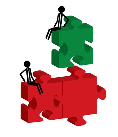 man with the puzzle pieces Stock Photo - 6382942