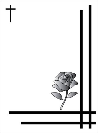 condolence card with rose to send to relatives or family with a funeral  Banco de Imagens