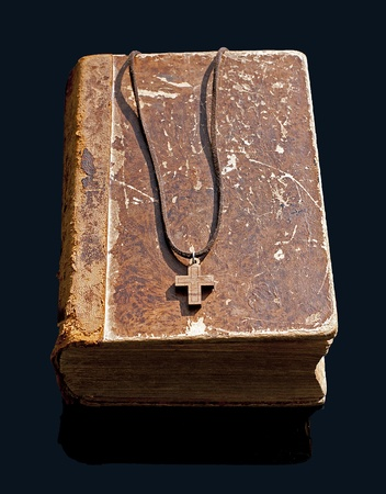 holy bible with cross photo