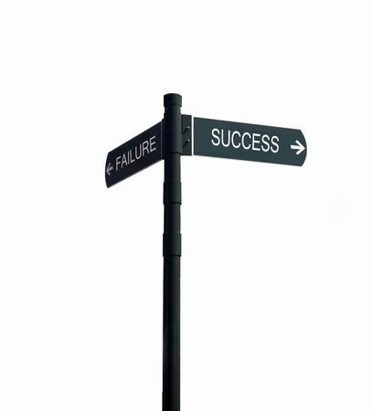 direction sign with failure and success photo