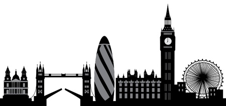 big ben tower: london skyline Illustration