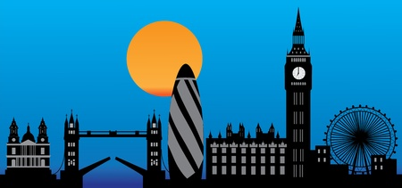 london city skyline by night Stock Vector - 9781287