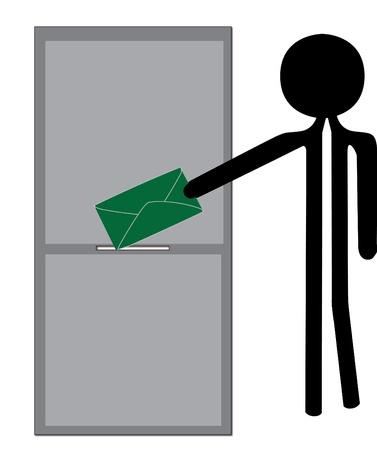 man posting envelope Stock Vector - 10445444