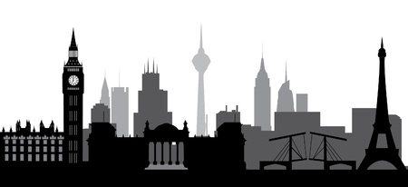 world skyline Vector