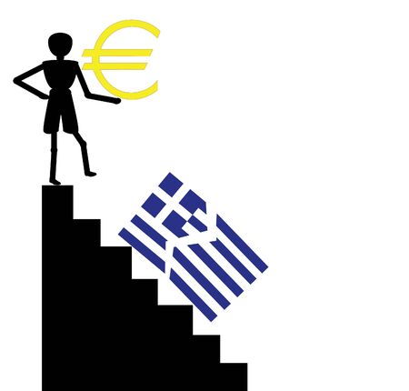 credit union: greece falling from the euro zone Illustration